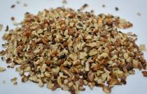 A crumb of wheaten walnut.