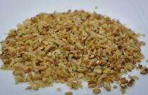 White crumb of walnut